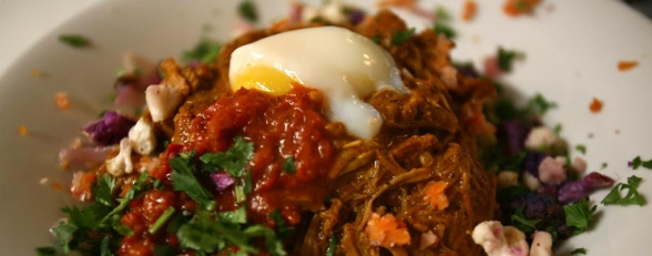 photo of beef lomo with egg