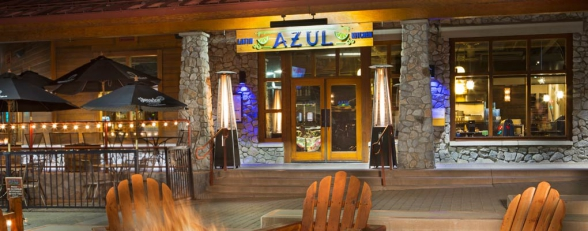 photo of Azul patio at night